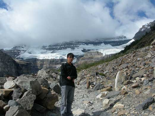 Me with Mount Victoria behind