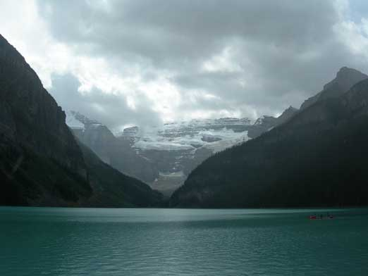 Back to Lake Louise, it was raining.