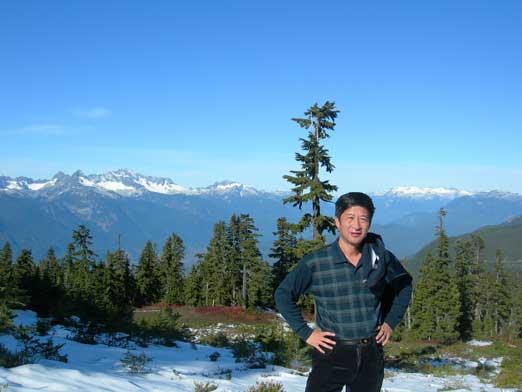 Dad posing with Mt. Tantalus behind