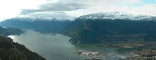 Panorama of Howe Sound from the top