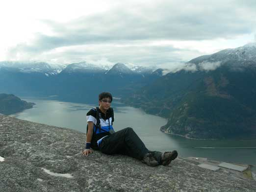Me with Howe Sound behind