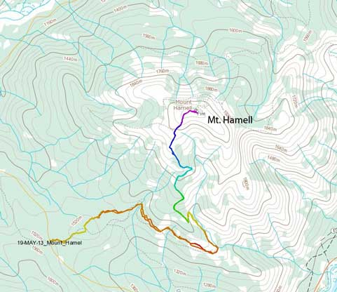 Mt. Hamell hiking/ATV ascent route