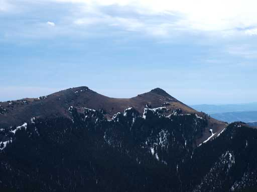 The two summits of Saddle Mountain