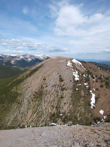 Windy Peak seen from Mount Hornecker