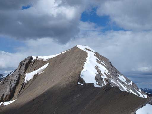 The true summit seen from false peak