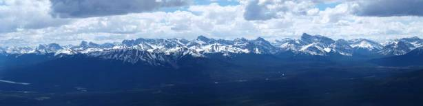 Panorama of peaks in the Northern Jasper