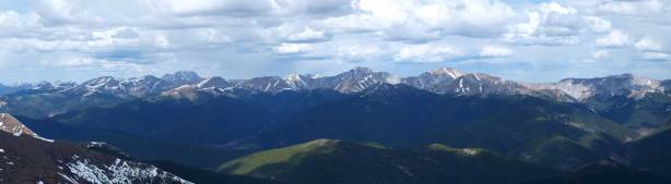 The group of front range peaks.