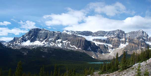 Crowfoot Mountain and Crowfoot Glacier