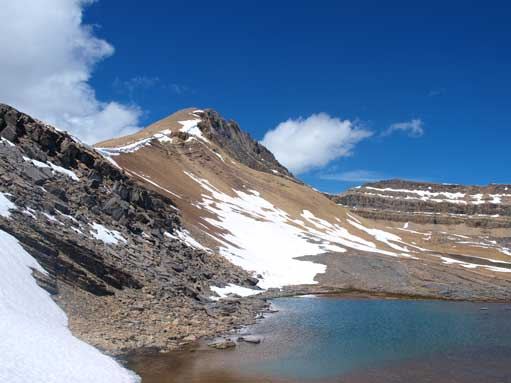Cirque Peak and the tarn