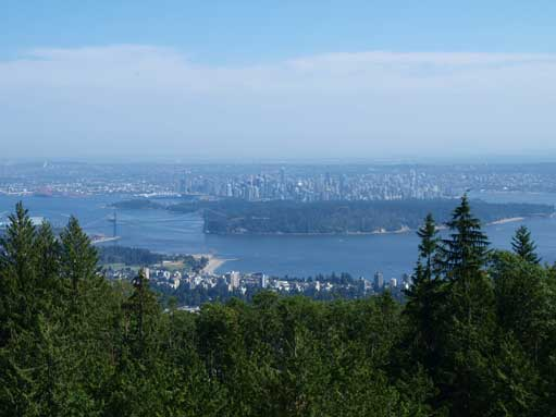 City of Vancouver seen from partway up Cypress Park access road