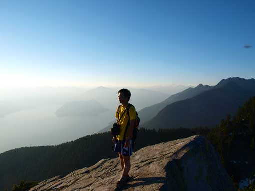 Me on south summit, soaking in the views