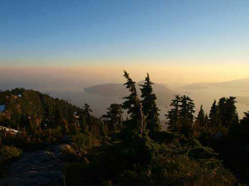 Looking towards Bowen Island from the north summit