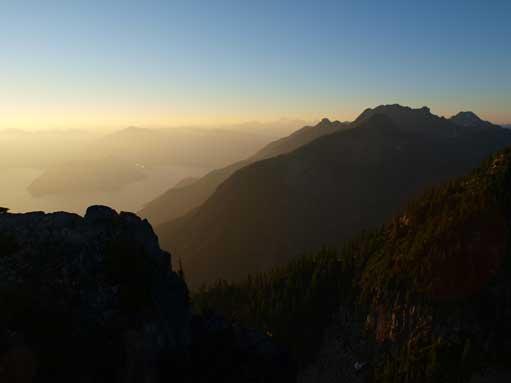 The higher peak on right is Brunswick Mountain