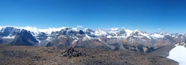 Summit Panorama looking at Sir Winston Churchill Range