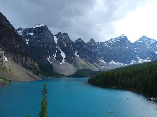 The classic view of Moraine Lake