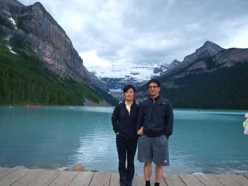 We drove back to Lake Louise