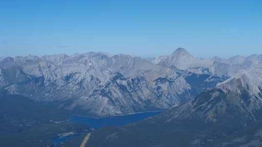 Lake Minnewanka Area. The big mountain is Aylmer