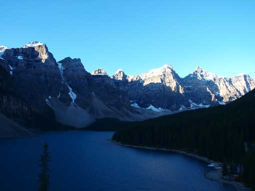 The classic shot of Moraine Lake