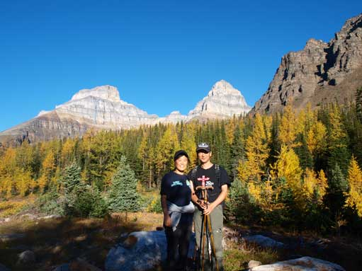 Mom and dad on the Larch Valley trail