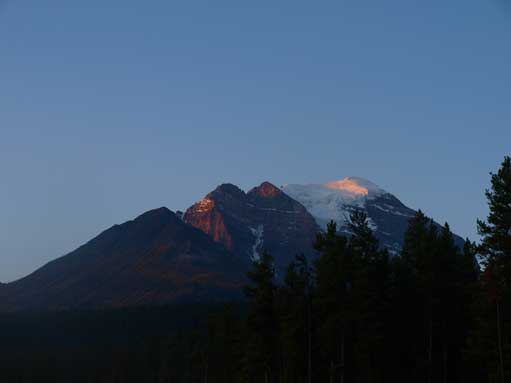 Alpenglow on Mount Temple