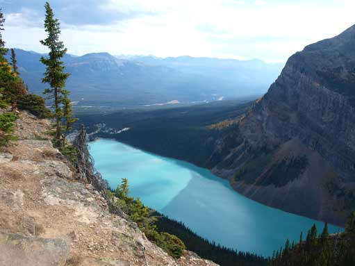 Looking down towards Lake Louise