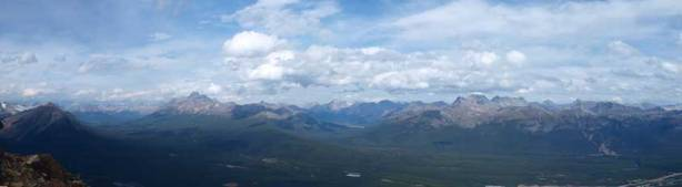 Panorama of Upper Bow Valley