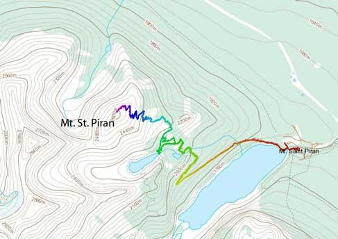 Mt. St. Piran standard ascent route
