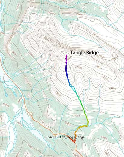 Tangle Ridge standard scramble route