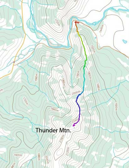 Thunder Mountain standard scramble route