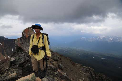 Me on the false summit. Photo by Ben N