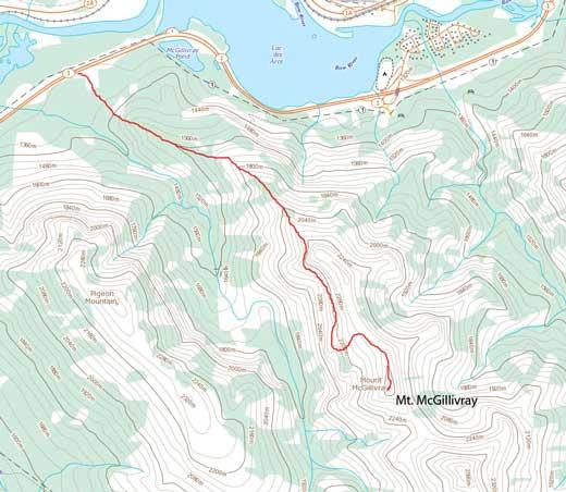 Mt. McGillivray scramble route