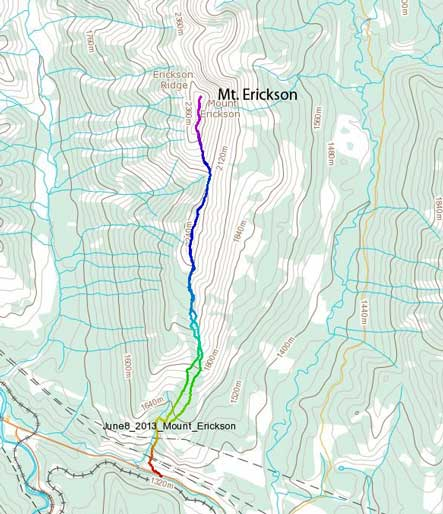 Mt. Erickson scramble route
