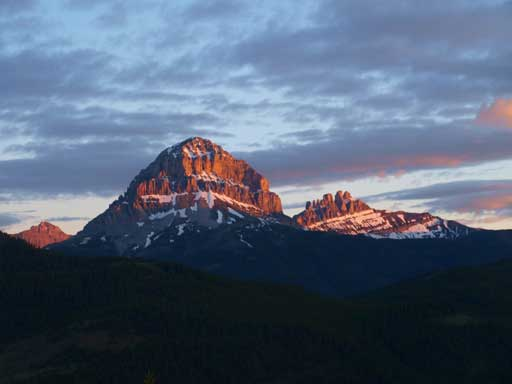 Crowsnest Mountain and Seven Sisters