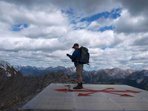 Ben on the helicopter pad on false summit