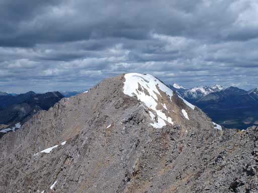 The true summit seen from false summit