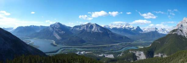 Panorama of Bow Valley. Weather was much nicer than expected
