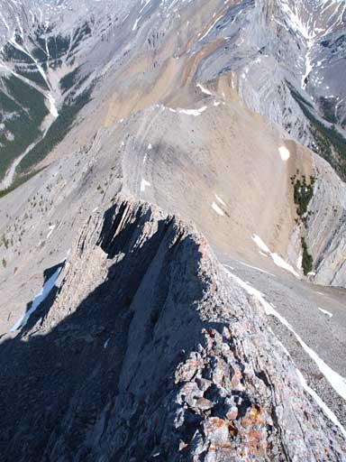 Exposure is quite real near the summit of Gap Peak