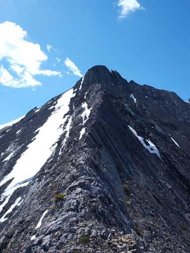 Looking back towards Gap. I think you probably can find an easier line but the terrain would be down-sloping and loose
