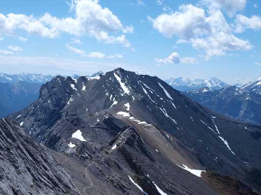 Looking back towards Gap Peak