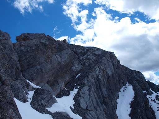 This scree traverse to the summit of Fable is a bit exposed