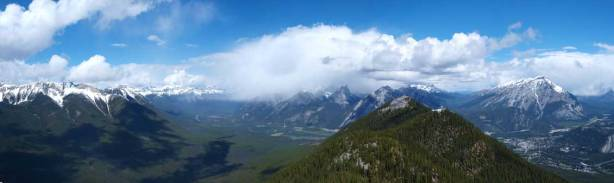 Gorgeous view of Bow Valley from 1st summit