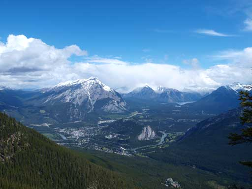 This is the classic view from Sulphur Mountain