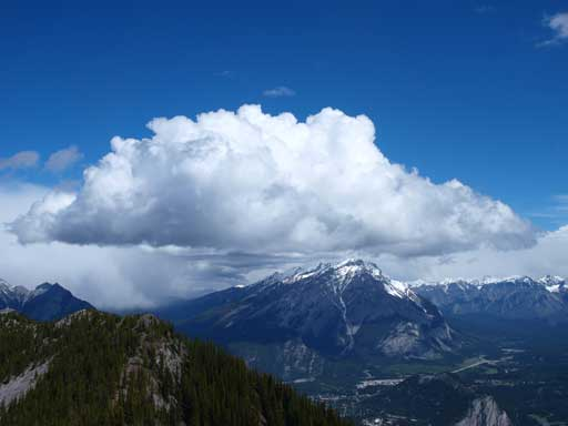 Cascade Mountain with a big piece of cloud