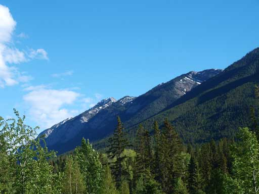 Sulphur Mountain seen from town of Banff