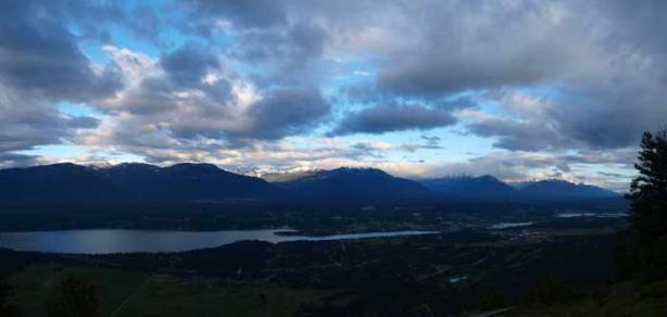 Another panorama of Columbia Valley and Invermere area