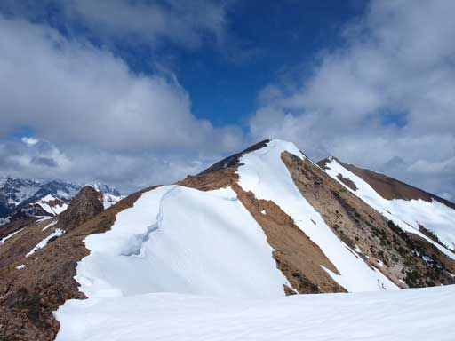 Traversing to the second summit
