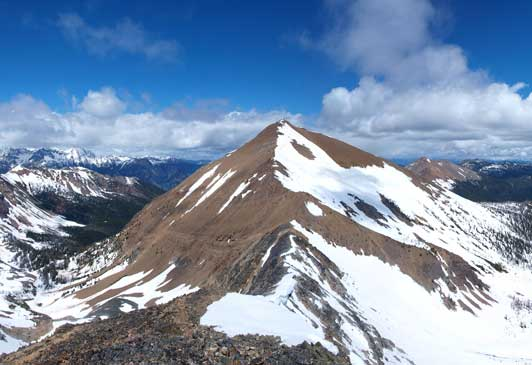 The true summit of Brewer from the second summit