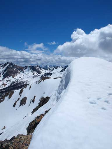 There were some cornices on this ridge