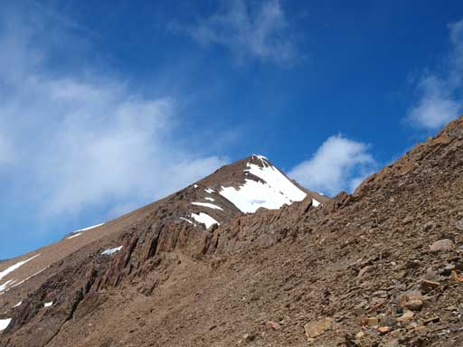 Going up the true summit