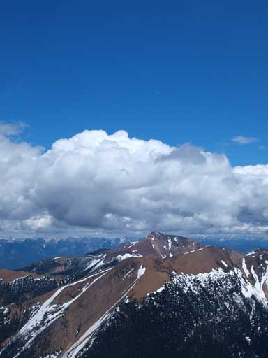 Unnamed summit with interesting clouds above